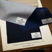 готов на складе покрашенная пряжа 100% льняная рубашка ткань рубашечные ткани