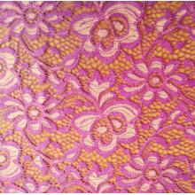 Damen-modisches Kleid-Gewebe mit Spitze-Blume