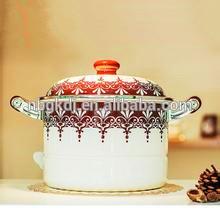 Utensílios de cozinha Esmalte Utensílios de Cozinha Conjunto de Sopa pote decalques elegantes utensílios de cozinha Esmalte Conjunto de Panelas Sopa pote decalques elegantes
