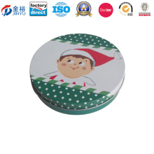 Wholesale Round Shaped Metal Tin Container for Gift Packaging Box