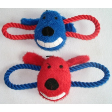 Pet Dog Product Plush Rope Squeaky Chew Pet Toy