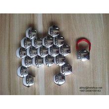 17mm Roue Chrome Lug Nut Covers