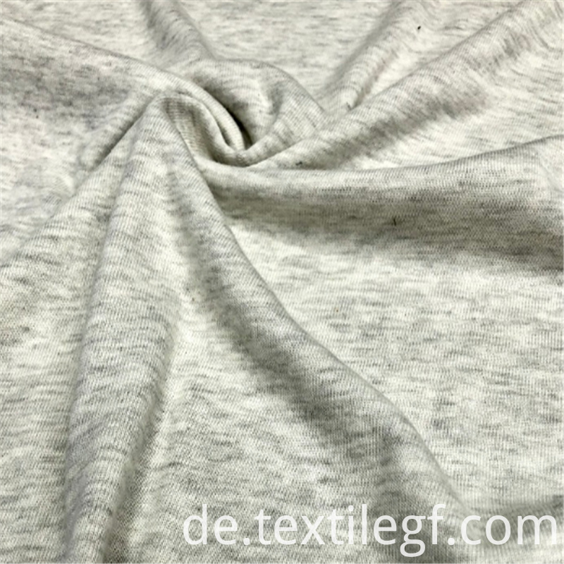 Gray Cvc 1 1 Rib Knitting Fabric 3