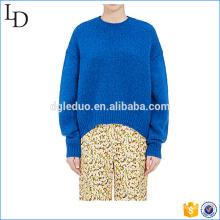 Suéter de jersey de moda para mujer suéter de ganchillo de gran tamaño