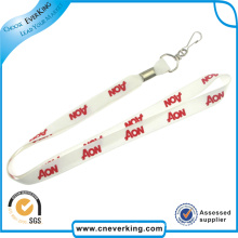 China Wholesale Cheap Custom White Stain Ribbon Lanyard
