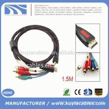 19-контактный разъем HDMI Type A для мужчин 5-штырьковый разъем RCA Audio Vedio Cale