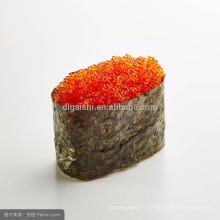 Halal De haute qualité surgelé poisson en conserve chevronné roe tobiko orange 500g