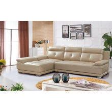 Cream Color L Shape Sofa, Modern Sofa, Leather Sofa (SA25)