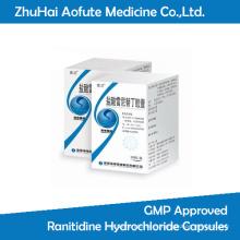 Cápsulas de hidrocloruro de ranitidina aprobadas por GMP
