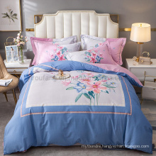 Home Product Best Quality Bed Linen Cotton Printed Comfortable for Queen 4PCS Bed Sheet