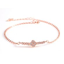 18k rose gold plated bracelet fashion bride rope bracelet 7''