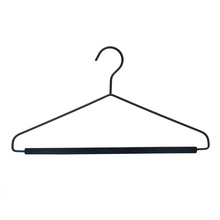 High quality durable metal hanger black velvet coat suit hanger for clothing