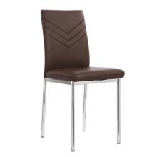 Современные пу высокой задней Chrome столовой кресло