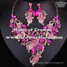 Alloy Crystal Wedding Necklace Set Jewelry Set