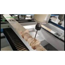 Router de madeira quente da linha central do cnc 4 da venda / máquina de trituração cnc / máquina de madeira 3D com giratório