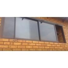 Штабелирование трехканальных алюминиевых раздвижных окон