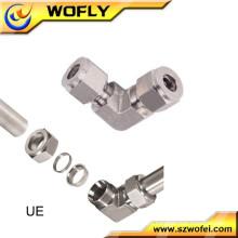 Equipamento máquina aço inoxidável compressão cotovelo união acessórios para tubos