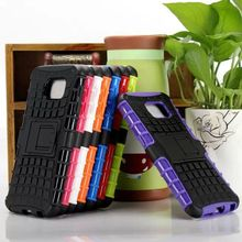Servicio pesado duro híbrido Kickstand teléfono accesorio para caso Samsung S6