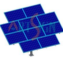 Solar PV Pole unterstützen Kits Mount Mono Panel Installation PV Module Boden Montage