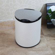 PU White Style Aotomatic Sensor Garbage Bin (E-9LA)
