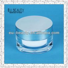 Acryl Kosmetik Kunststoff Gläser 50g mit Aluminium Deckel