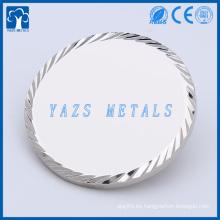 Metales de cobre con borde de diamante doble lado monedas en blanco
