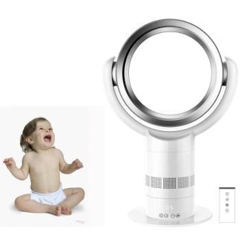 Ventilateur de table de ventilateur de lame de refroidissement à l'air de 10 pouces avec le matériel ABS à télécommande forme ronde