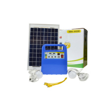 10W Solar Power System with LED Light