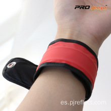 Reflective Adjustable Red Woven Fabrics Slap Band