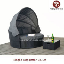 Outdoor Wicker Big Daybed in Black (1315)