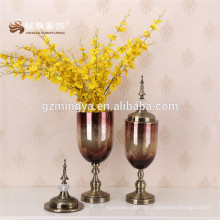 2016 cheap wholesale glass vase for home decoration luxury flower glass holder