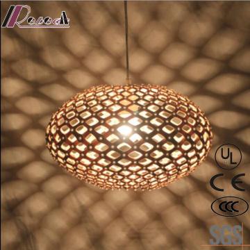 Индивидуальность и мода Круглый деревянный полый подвесной светильник