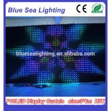 Decoração do partido cortina de LED flexível para tela de LED cortina de LED