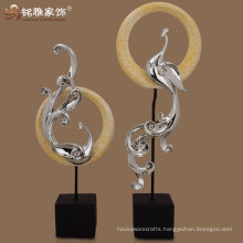 high quality abstract resin peacock figurine for home decor