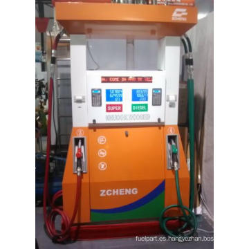 Estación de gasolina de Zcheng Serie creativa Dispensador de combustible 4 Boquilla