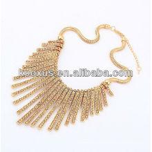 Collier bijoux en or à la mode