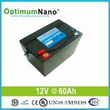 Длинная жизнь литий-ионный аккумулятор 12V батарея 60ah для солнечного света