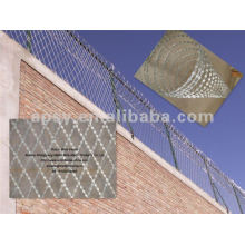 pvc coated or galvanized razor barbed wire mesh