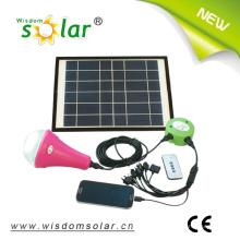 Lanterne solaire LED rechargeable avec panneau solaire mobile chargeur et 6W