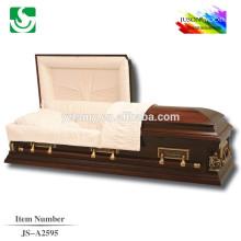 gros cercueil assemblé en bois massif