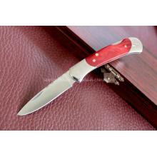 Cuchillo plegable de la manija de madera (SE-0509)