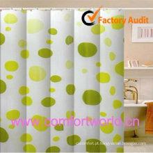 100% poliéster cortina de chuveiro impresso impermeável