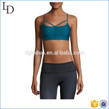 Strappy espalda sujetador deportivo de moda barato ejercicio personalizado desgaste