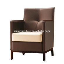 Leather arm sofa chair for hotel furniture XYD221