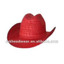 2013 Fashion Cheap paper straw cowboy hats