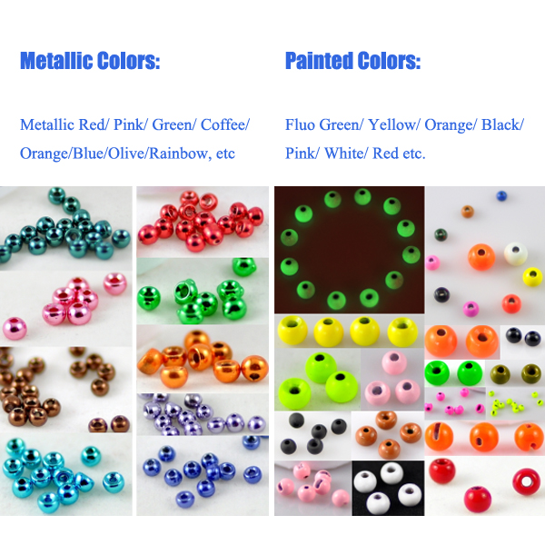 Color of tungsten beads