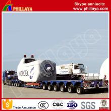 4+6 Modular 10lines Heavy Duty Multi-Axles Customized Low Bed Semi Modular Trailer
