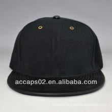 leather flat bill blank snapback caps wholesale