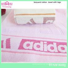 Toalha de algodão esportiva com logotipo no rosto / toalha de mão