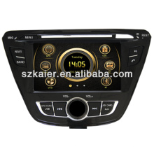 Reproductor de DVD del coche caliente del wince 6.0 para Hyundai 2013 Elantra con GPS / Bluetooth / Radio / SWC / Virtual 6CD / 3G internet / ATV / iPod / DVR